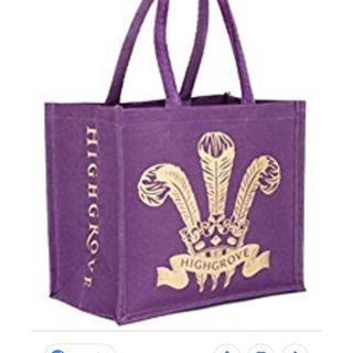 英国Highgrove【ハイグローブ】ショッピングエコ・トート◆紫◆S