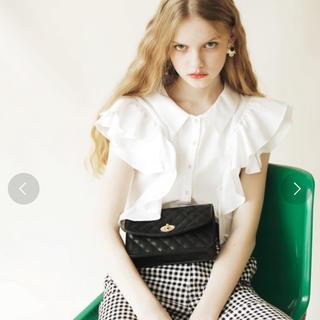 REDYAZEL - レディアゼル  シャツ 半袖 白 ホワイト フリル