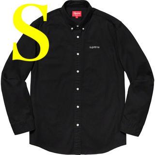 シュプリーム(Supreme)の黒 S 19SS Supreme Washed Twill Shirt(シャツ)
