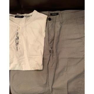 バーバリー(BURBERRY)のバーバリー ヘンリーネックT、ショートパンツ(Tシャツ/カットソー(七分/長袖))