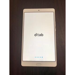 エヌティティドコモ(NTTdocomo)のd tab d-01J f9012801 動作確認済み 送料無料(タブレット)