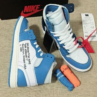 ナイキ(NIKE)の25cm OFF-WHITE AIR JORDAN 1 NRG(スニーカー)
