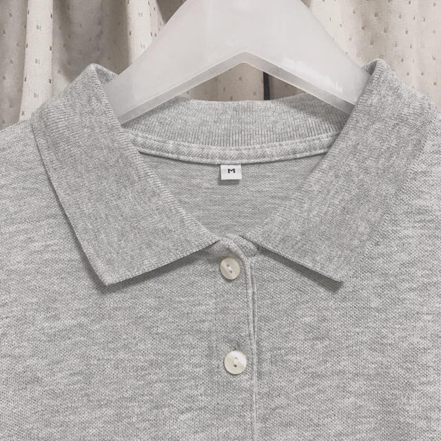 MUJI (無印良品)(ムジルシリョウヒン)の無印 ポロシャツワンピース グレー レディースのワンピース(ひざ丈ワンピース)の商品写真