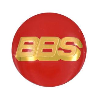BBS アルミホイール センターキャップシール 4個セット 赤金