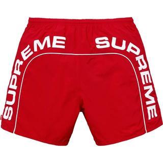 シュプリーム(Supreme)のSupreme Arc Logo Water Short レッド(ショートパンツ)
