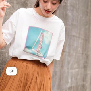 niko and... - 新品、未使用ニコアンド  空フォトティシャツ