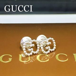 グッチ(Gucci)の新品仕上 グッチ ボールチェーン インターロッキング G ロゴ ピアス シルバー(ピアス)