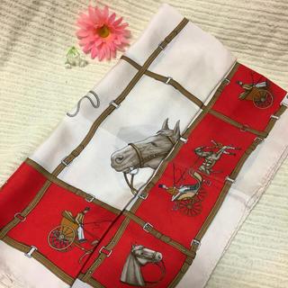 セリーヌ(celine)の【最終値下げ】良品 正規品 セリーヌ 大判スカーフ 馬柄 シルク100%(バンダナ/スカーフ)