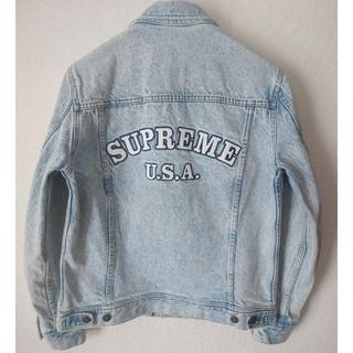シュプリーム(Supreme)の希少!☆16ss☆Supreme denim trucker jacket  (Gジャン/デニムジャケット)