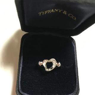 ティファニー(Tiffany & Co.)のティファニーリング ハートダイヤ プラチナ(リング(指輪))
