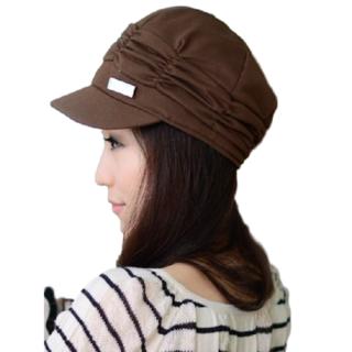 ★新品 シンプル レディース 帽子 キャップ ハット キャスケット(ブラウン)(キャスケット)