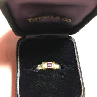 ティファニー(Tiffany & Co.)のティファニー  コンビリング シルバー× 18K ×ルビー(リング(指輪))