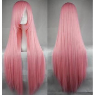 ウィッグ ピンク カツラ ロング コスプレ ヘアー 女装 ストレート ネット付き