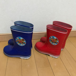 アンパンマン 長靴 2セット 17cm 赤/青