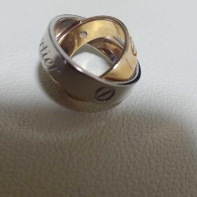 Cartier(カルティエ)のカルティエ ラブ シークレット リング 49 18K YG WG コード  レディースのアクセサリー(リング(指輪))の商品写真