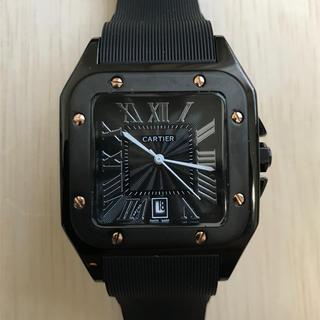 Cartier - メンズ 腕時計 サントス ドゥ カルティエ ブラック ラバーベルト 新品