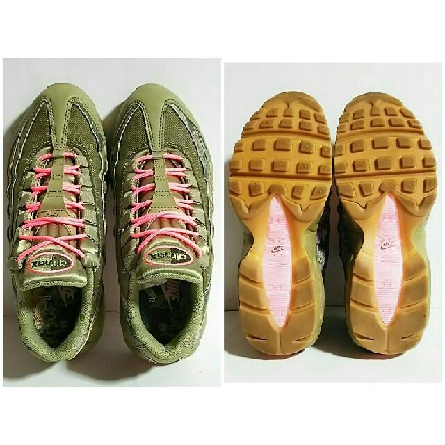 NIKE(ナイキ)の美品❗NIKE WMNS AIR MAX 95、ナイキ エアマックス 95 カモ レディースの靴/シューズ(スニーカー)の商品写真