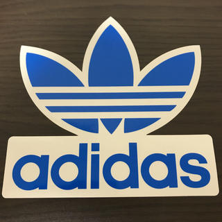 adidas - 【縦16.3cm横16.8cm】 adidas ステッカー