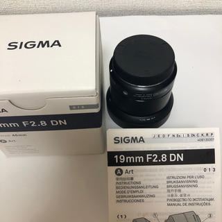 SIGMA - SIGMA単焦点広角レンズArt 19mmF2.8DN マイクロフォーサーズ用