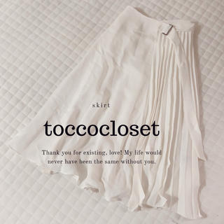 tocco - tocco closet♡リングベルト付きプリーツ切替スカート