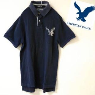 アメリカンイーグル(American Eagle)の【AMERIKAN EAGLE】ポロシャツ ロゴ刺繍 《S》(ポロシャツ)