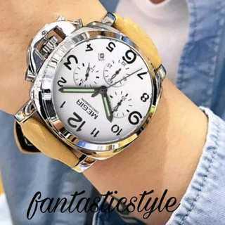 【海外限定ウォッチ】MEGERBROWN  腕時計 メンズ ウォッチ ブラウン