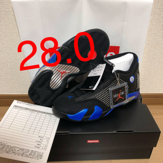 ナイキ(NIKE)の【28.0】SUPREME × NIKE AIR JORDAN 14 RETRO(スニーカー)