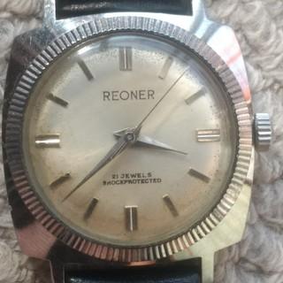 アンティーク手巻き腕時計 REONER 21JEWELS