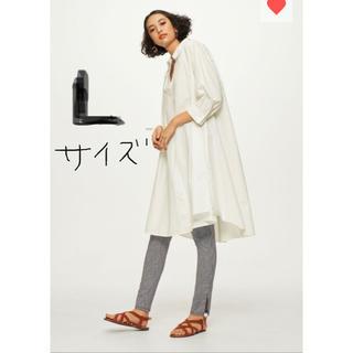 GU - コレで最後‼︎  GU/Aラインシャツワンピース/人気完売/Lサイズ