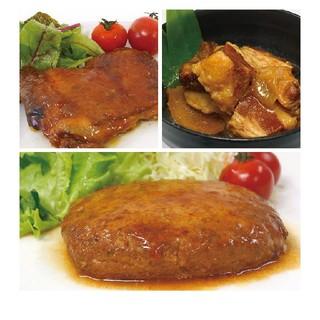 uchipac お肉セット 豚の角煮 照り焼きチキン 煮込みハンバーグ  各2個(レトルト食品)