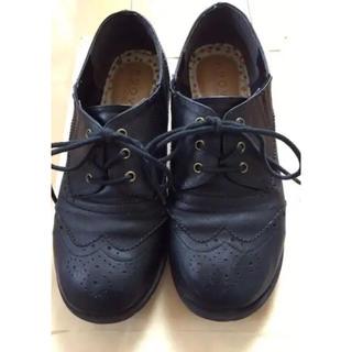 女性用靴 黒(ローファー/革靴)