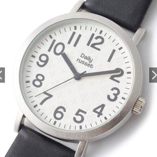 Russet - 新品!デイリー ラシット 牛革ベルト シンプルウォッチ / 腕時計(ブラック)