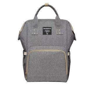 マザーズバッグ リュック 多機能大容量 ベビー用品収納 グレー(リュック/バックパック)