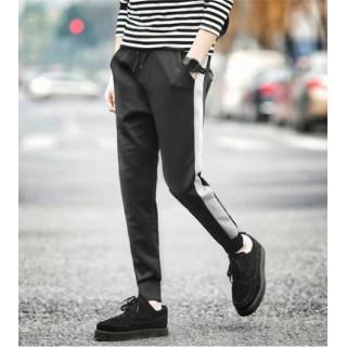 メンズ 1本ライン パンツ ジョガーパンツ