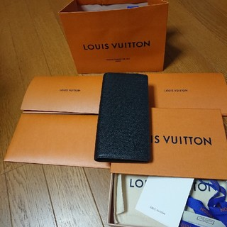 正規品 ルイヴィトン 美品 ポルトフォイユ ブラザ タイガ 二つ折り 長財布