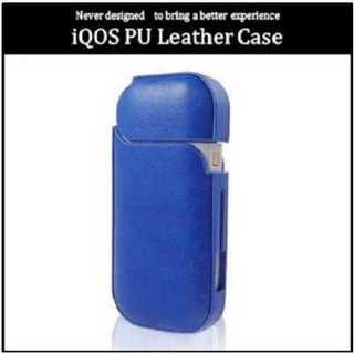 iQOS アイコス ケース カバー PUレザー 簡単装着 電子 たばこ ブルー