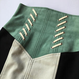 マメ(mame)のmame ハイウエスト フリンジ スカート 定価8万円 toga marni(ロングスカート)