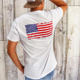 アメリカンイーグル(American Eagle)の2019新作☆LUSSO SURF 星条旗バックプリント Tシャツ M☆デウス(Tシャツ/カットソー(半袖/袖なし))