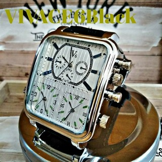 【奏kanade】時を刻む【VIVACE6Black】腕時計 ウォッチ