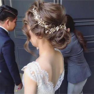 小枝 ウエディングパーツ ヘッドドレス