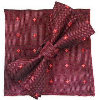 新品 蝶ネクタイ ポケットチーフ 2点セット メンズ  結婚式