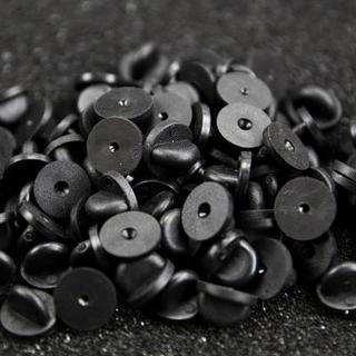 20個 ピンバッジ クラッチ RUBBER PVC PIN BACKS B