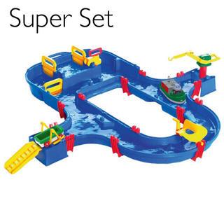 ボーネルンド(BorneLund)のSuper Set ★ アクアプレイ クレーン車 コンテナ 遊び 誕生日 4歳(知育玩具)