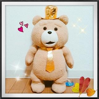 新品 TED2 キラキラハット&ネクタイ ぬいぐるみXL TED くま ゴールド