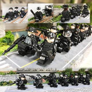 当日発送 特殊部隊⑦ SWAT レゴ デュプロ ミニフィグ 12セット 武器大量