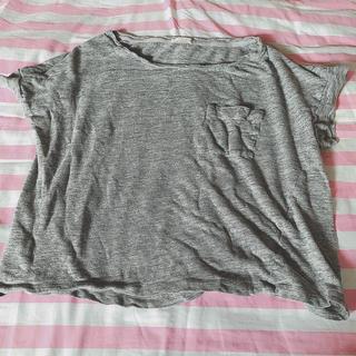 ジーユー(GU)のGU グレー Tシャツ レディース M ♡(Tシャツ(半袖/袖なし))