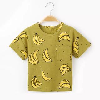 【新品】バナナTシャツ 半袖 〈緑〉80cm