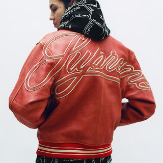 Supreme - Supreme 19SS  leather varsity jacket M
