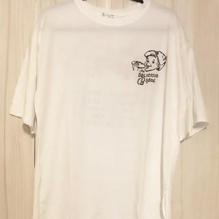 夏に涼しく 2色 オーバーサイズTシャツ お値下げ(Tシャツ/カットソー(半袖/袖なし))