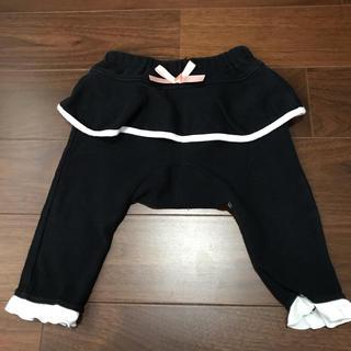 ペプラムパンツ 黒 リボン付き サイズ70